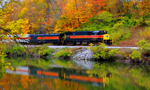all aboard the fall flyer cuyahoga valley scenic railroad